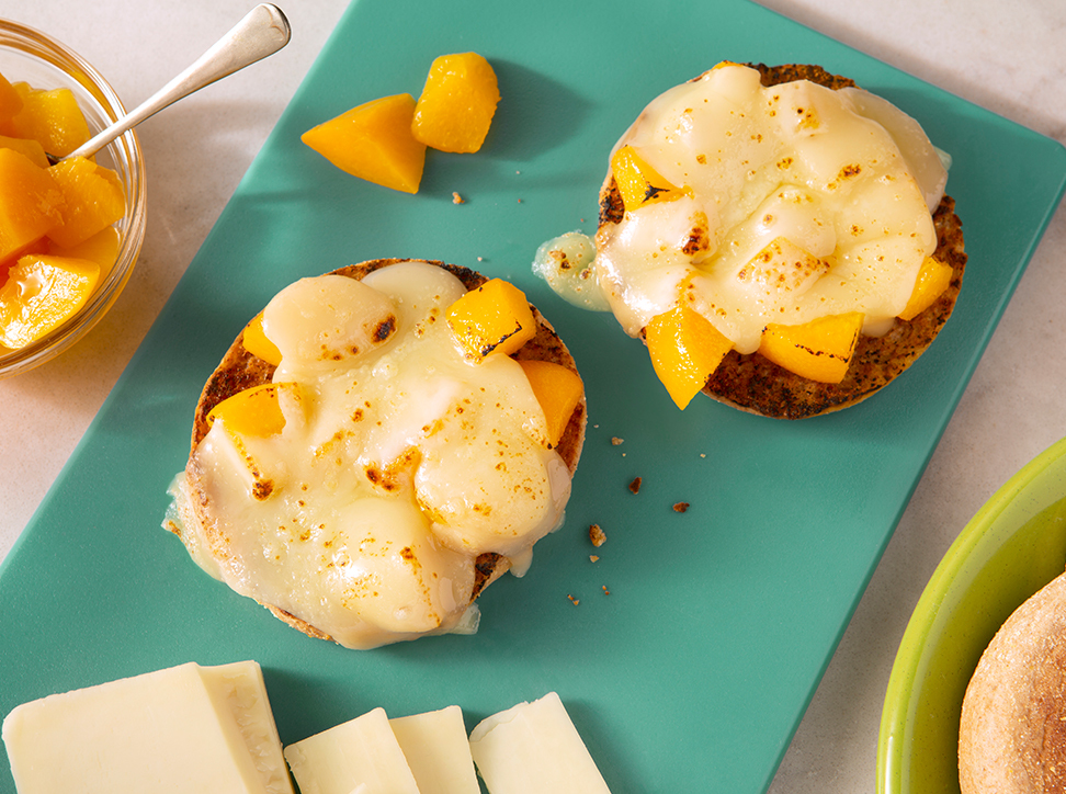 Grilled Cheese/Peach Sandwich