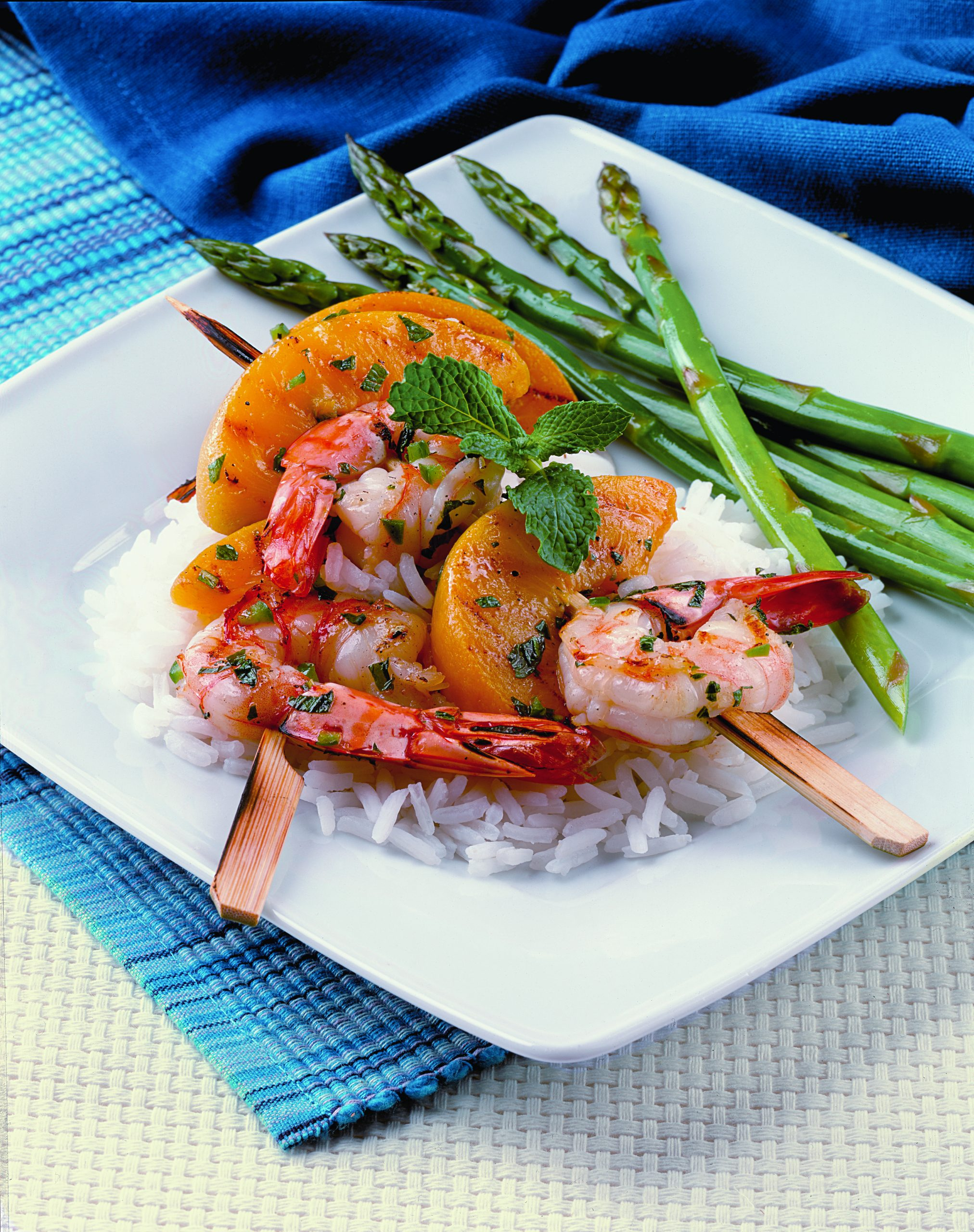 Shrimp & Peach Skewers