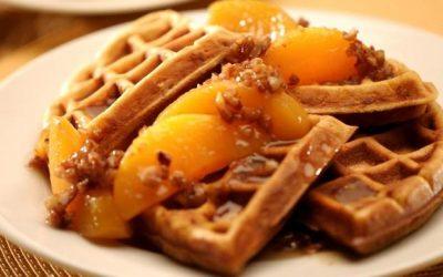 Sweet Potato Pecan Waffles