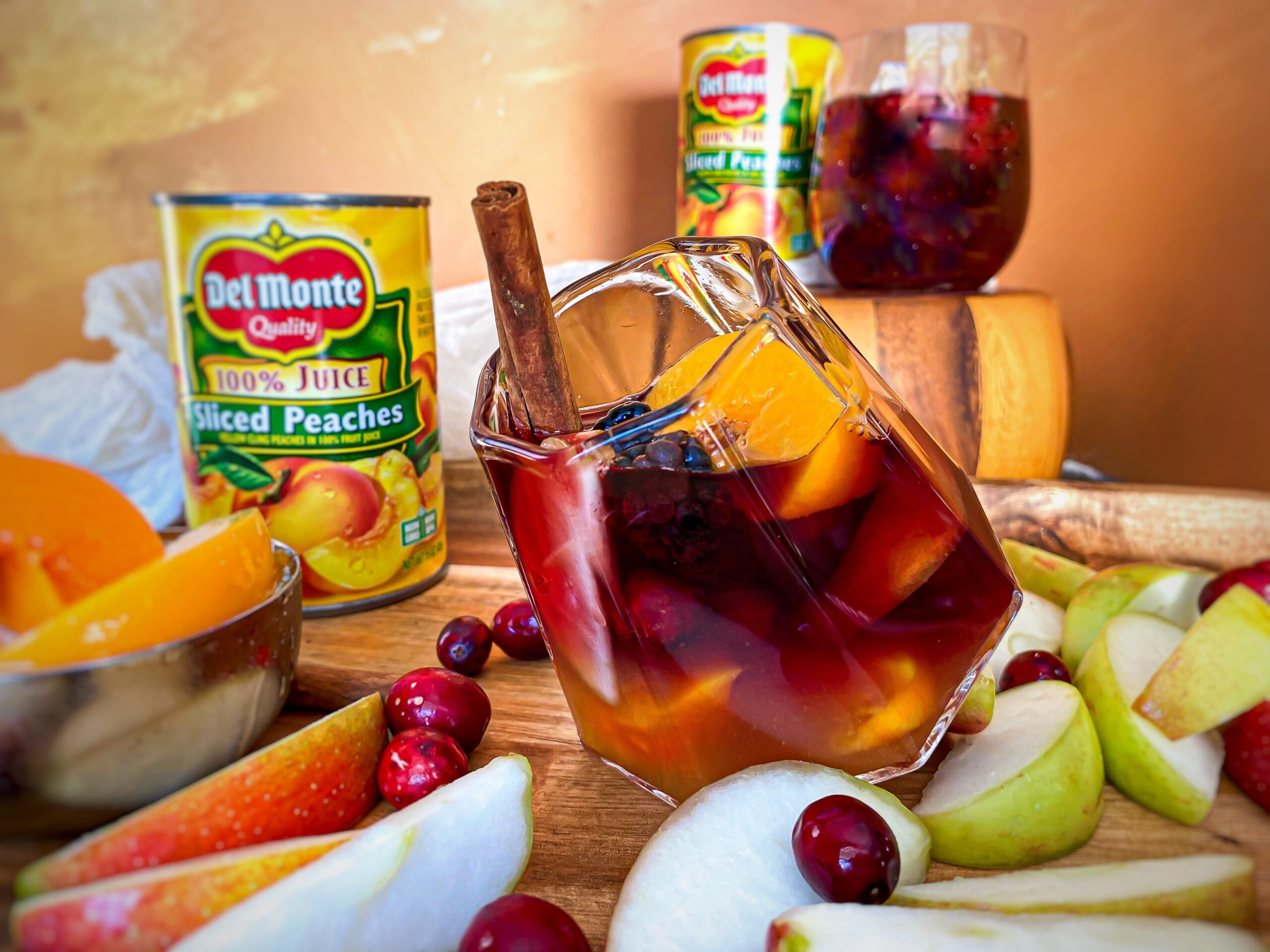Holiday Peach Sangria
